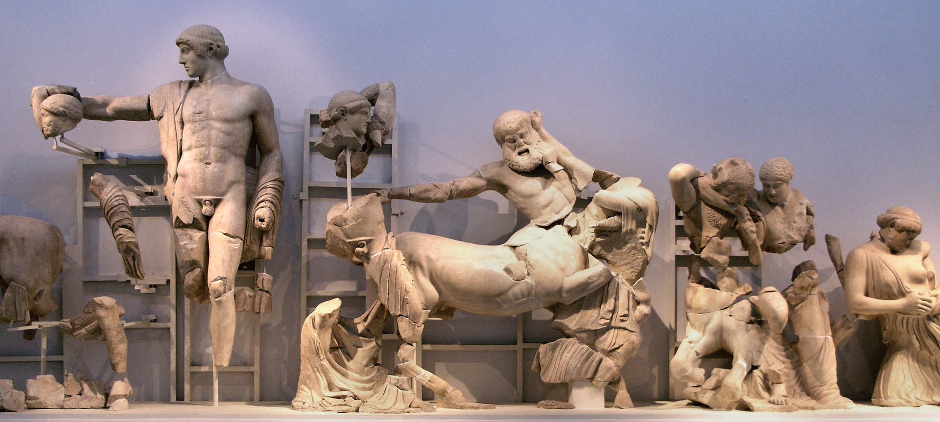 sculptures at ancient olympia