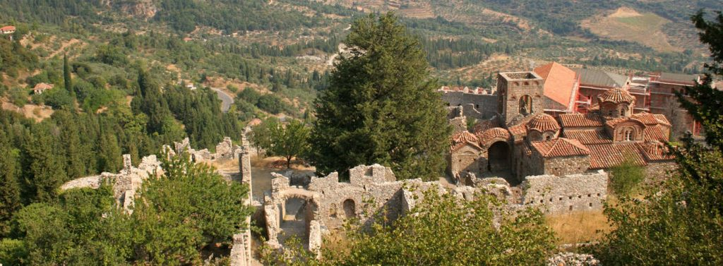 mystras archaelogical site