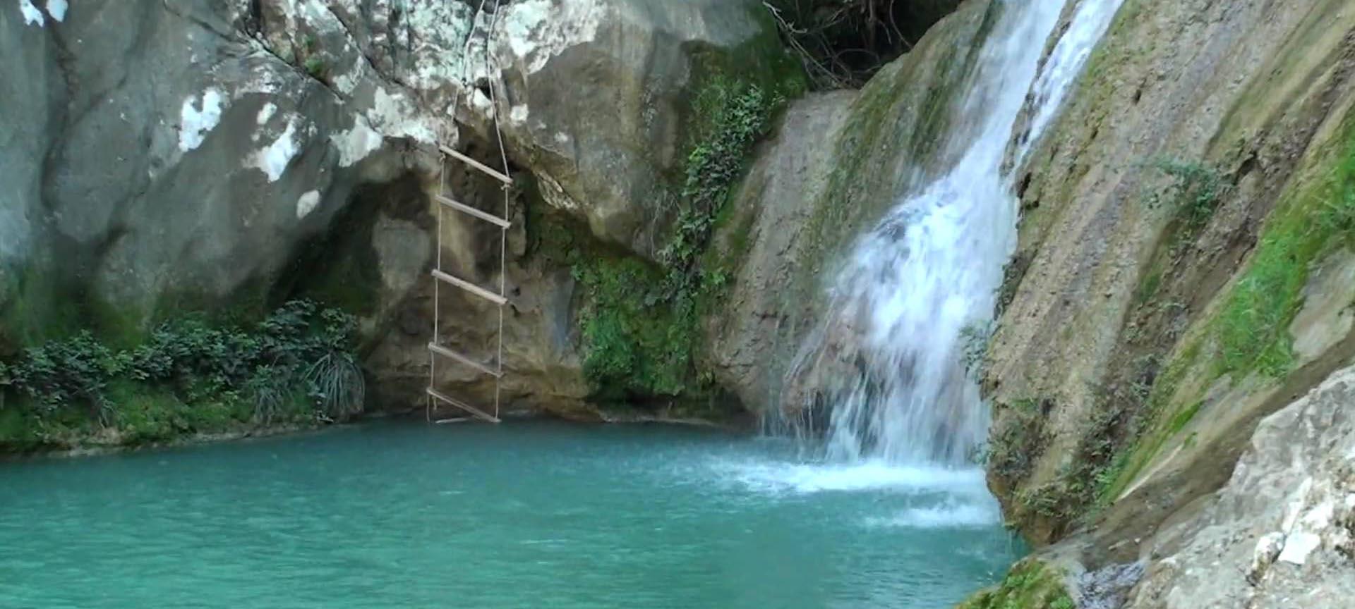 waterfalls at polylimnio